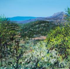 Sierra de Huétor - Óleo sobre lienzo 80x80