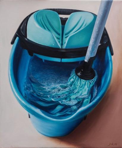 La Fregona - Óleo sobre lienzo 46x55 cm.