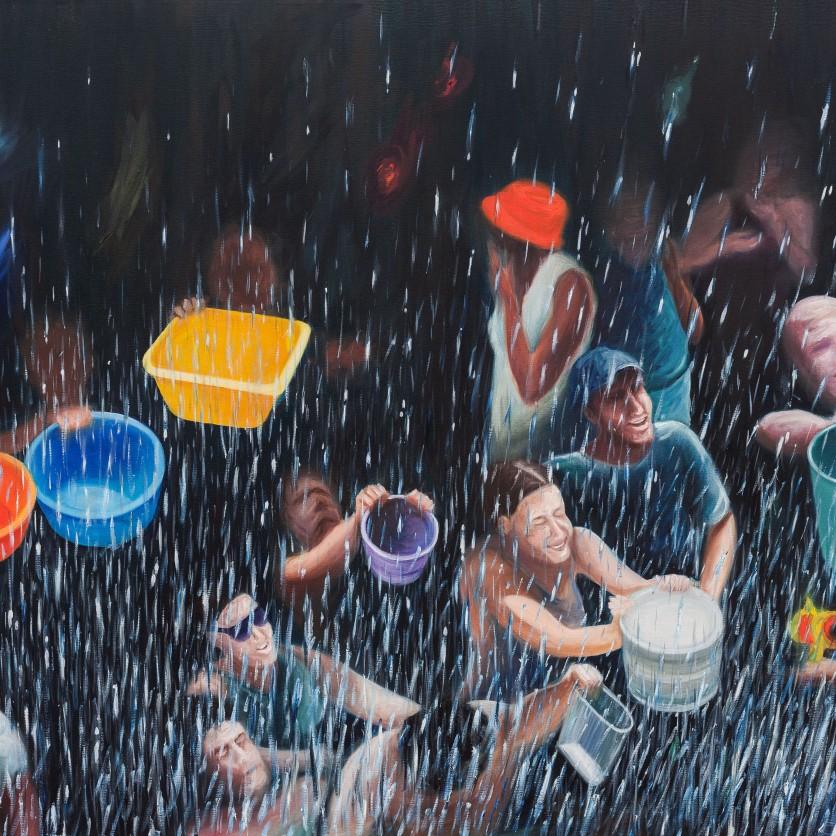 Sueños de Lanjarón - Óleo sobre lienzo 146x114 cm.
