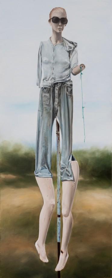 El espantapájaros - Óleo sobre madera 80x200 cm.
