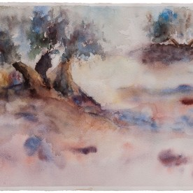 Olivos 1 - Acuarela 57x38 cm