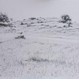 Paisaje de la Subbética 05 - Grafito 32x23 cm.