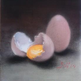 Huevos - Pastel 24x32 cm.