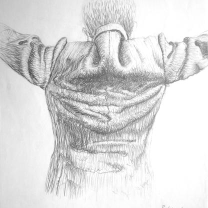 Estudio de arrugas 1 - Grafito 21x30 cm.