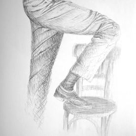 Estudio de arrugas 3 - Grafito 21x30 cm.