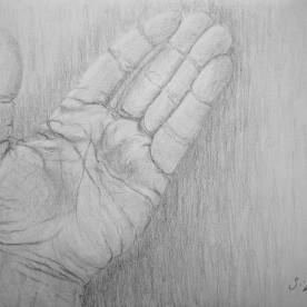 Mi mano – Grafito 21×30 cm.