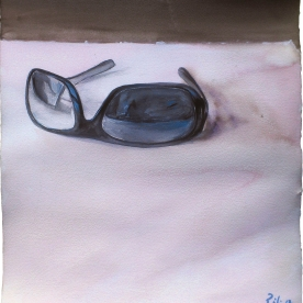 Gafas - Gouache 38x42,5 cm.