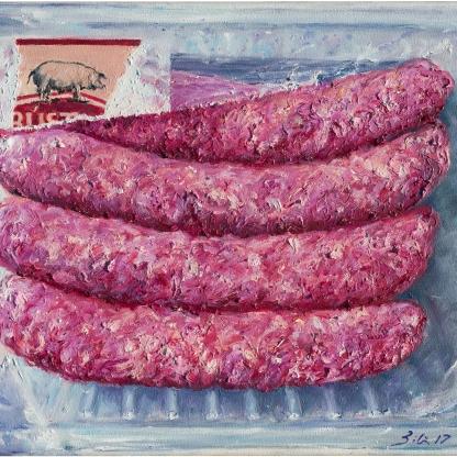 Butifarras - Óleo sobre lienzo 30x21 cm.