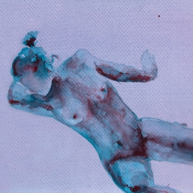 Figura femenino - Acuarela 46x32 cm.