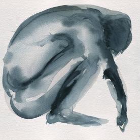 Figura en grises - Acuarela 24x32 cm.