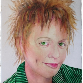 Laurie Anderson - Acuarela 57x77 cm.
