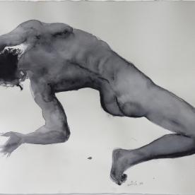 Figura masculino grises 3 - Acuarela 77x57 cm