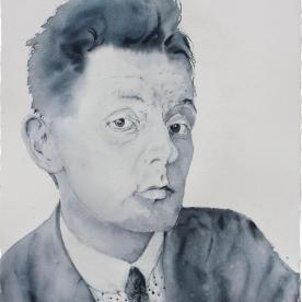 Egon Schiele - Acuarela 57x77 cm