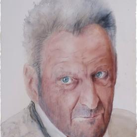 Lucian Freud - Acuarela 57x77 cm