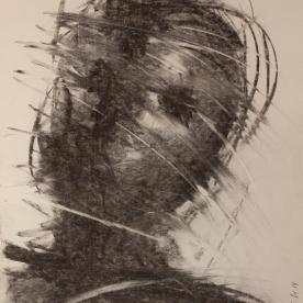 Expres gris1 - Carboncillo 30x42 cm.