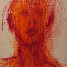 Expres naranja - Pastel 24x32 cm.