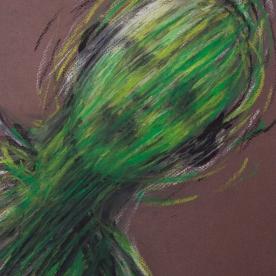 Expres verde - Pastel 24x32 cm.