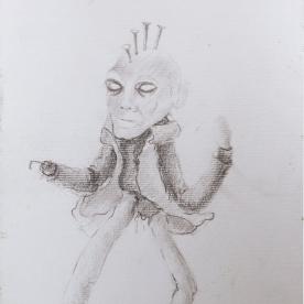 Muñeco Punky - Lápiz 21x30 cm.
